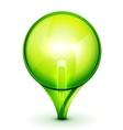 Green light bublb energy saving concept vector