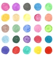Set of colorful watercolor hand painted circle vector