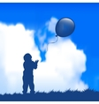 Child with a balloon vector