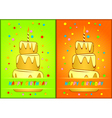 Greeting card happy birthday vector