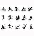 Summer sport icons set vector