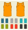 Set of templates colored singlets for men vector