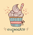 Hand drawn of cupcake vector