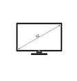 Lcd tv black and white vector