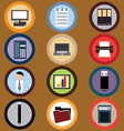 Icon set for business vector