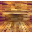 Old wooden interior room with a shelfs eps 10 vector