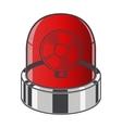 Red emergency siren vector