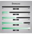 Green lights internet download bars set eps10 vector