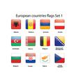 European countries flags set 1 vector