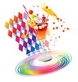 Rainbow party drinks vector