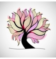 Bright colorful tree with branches and leaves vector