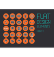 Flat design template - vector
