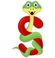 Alphabet s with snake cartoon vector