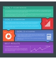 Flat style options banners background vector