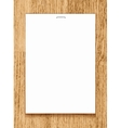 Blank paper a4 sheet on wooden background vector