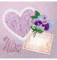 Heart lace violet 380 vector