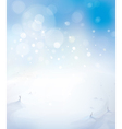 Sky snow background vector