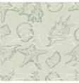 Sea shells pattern background vector