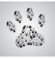 Various animal footprints eps10 vector