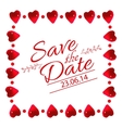 Save the date card with heart frame vector