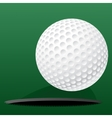 Golf ball rolling into the hole vector