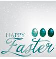 Elegant easter egg card in format vector