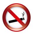 Forbidden smoking design vector