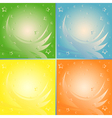 Four abstract backgrounds in different colors vector