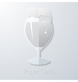 Paper glass of beer flat long shadow icon vector