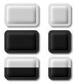 Sachet packaging black white vector