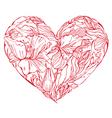 Heart flowers 3 380 vector