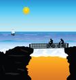 Beach cyclists vector