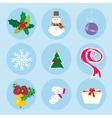 Christmas winter symbols pattern holiday mood vector