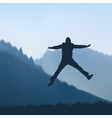 Man jumping vector