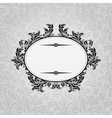 Retro background with vintage calligraphic ornate vector