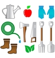 Isolated set tools for gardening vector