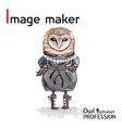 Alphabet professions owl letter i - image maker vector