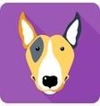 Dog icon flat design vector