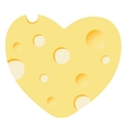 Cheese heart vector