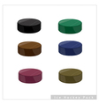 Set of hockey puck on white background vector