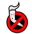Stop smoking vector