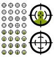 Gun crosshair sight symbols vector