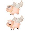 Flying pig vector