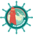 Lighthouse emblem vector