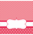 Pink invitation card with white polka dots vector