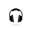 Headphones black and white vector