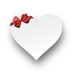 Paper red heart vector