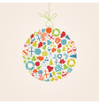 Christmas bauble of icons vector