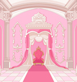 Throne room of magic castle vector