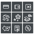 Finance icon collection vector